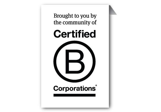 B corp gecertificeerd: duurzaam, transparant,