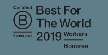 "BvdV recognized as a ""Best For The World"" B Corp for creating the most positive impact for their workforce."