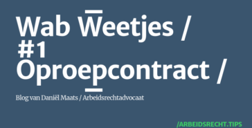 Wet arbeidsmarkt in balans - oproepcontract